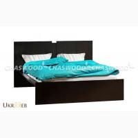 Двуспальная кровать Дуэт из натурального дерева