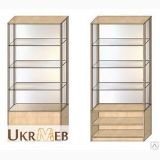 Витрина шкаф торговая из ДСП и стекла, изготовление на заказ
