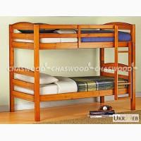 Двухъярусная кровать Твайс из натурального дерева
