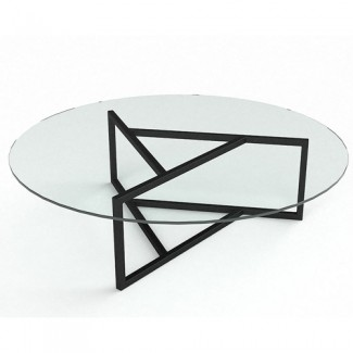 Стеклянный журнальный стол Глобус
