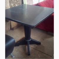Стол деревянный б/у черный для кафе, бара, фаст-фуда