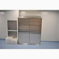 Шкафы напольные и настенные из нержавеющей стали