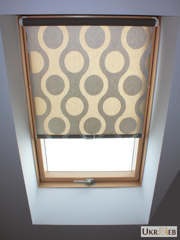 Фото 2. Рулонные шторы, тканевые роллеты на мансардные окна
