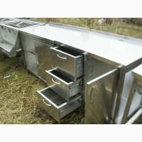 Кухонные тумбы из нержавеющей стали