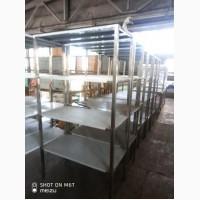 Стеллаж XXL из нержавеющей стали (AISI 201) 4 полки