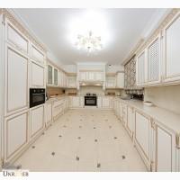 Встроенные кухни прованс у окна дорогие кухни