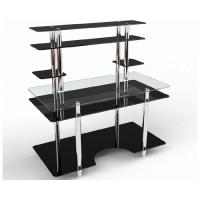 Стеклянный компьютерный стол Юниор