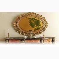 Golden mirror. Зеркало золотое. Зеркало золотого цвета