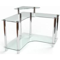 Стеклянный компьютерный стол Вега