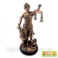 Статуэтка Фемида 41см помедненная - символ правосудия.