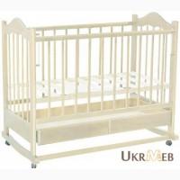 Детская кроватка белая деревянная пр-во Италия