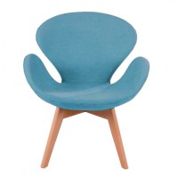 Мягкое кресло для отдыха Сван вуд Армз, ножки дерево