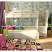 Двухъярусная кровать Саванна + дерево