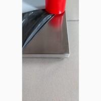 Опора до столу Кама, нержавійка, висота 72 см, блин знизу 45*45 см підстава для столу