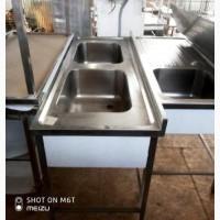 Мойка двойная XXL штампованная OZTI (Турция) ванна 500*400*250 мм (AISI 301)