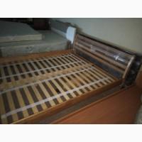 Деревянная кровать Франкфурт, двуспальная кровать, ліжко, ліжко з дерева на ламелях