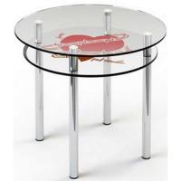 Стеклянный обеденный стол R4 D 110/90