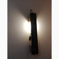 Лофт світильник з лампою Едісон з дерев#039;яного бруса