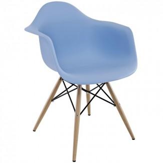 Пластиковое кресло для кафе, бара Тауэр Вуд, ножки дерево