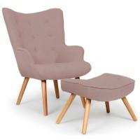 Кресло для отдыха Флорино с оттоманкой под ноги