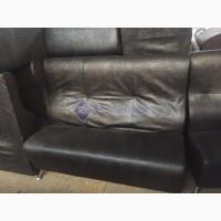 Продажа диванов б/у коричневых из кожзама под крокодилью кожу