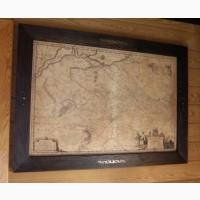 Настенная карта в кабинет - Генеральная карта Украины 1648г