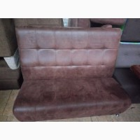 Продажа диванов б/у для общепита из коричневого кожзама под замшу