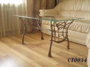 Фото 14. Кованый кофейный стол