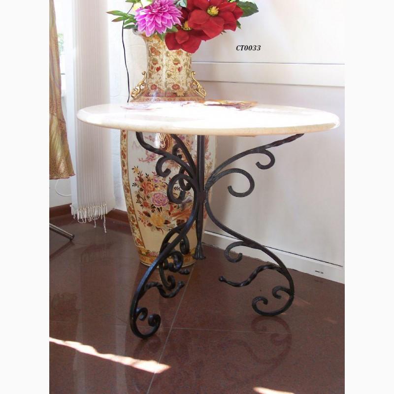 Фото 15. Кованый кофейный стол