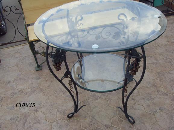 Фото 16. Кованый кофейный стол