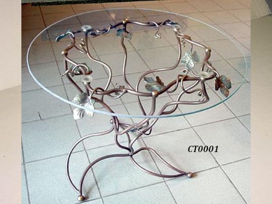 Фото 19. Кованый кофейный стол
