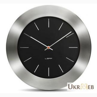 Современные часы для дома и офиса LEFF Amsterdam wall clock bold55 black index