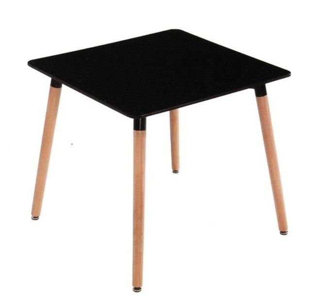 Фото 2. Стіл квадратний для обіду Нури 80*80 см білий, чорний