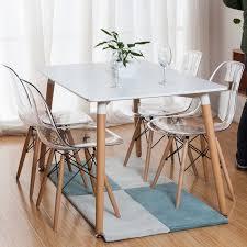Стіл квадратний для обіду Нури 80*80 см білий, чорний