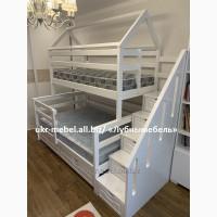 Кровать двухъярусная деревянная Честер-Дом, двоярусне (двоповерхове) ліжко