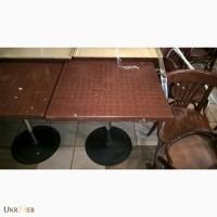 Столы верзалит бу с хромированной ногой для кафе