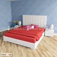 Двуспальная кровать Фемили из натурального дерева