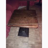 Столы деревянные б/у (мебель бу) на чугунной ноге в кафе бар ресторан
