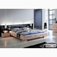 Двуспальная кровать Аннэт из натурального дерева