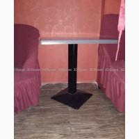 Столы верзалитовые б/у (мебель бу) на чугунной ноге в кафе бар ресторан