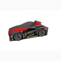 Кровать машина Lamborghini с матрасом, спойлером и подушкой Elite. Доставка БЕСПЛАТНО