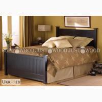 Двуспальная кровать Ришелье из натурального дерева