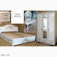 Роскошный спальный гарнитур с резьбой из массива ясеня