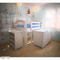 Детская кровать-чердак комплект Снежок