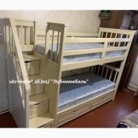 Двухъярусная деревянная кровать Стелла, двоярусне (двоповерхове) ліжко