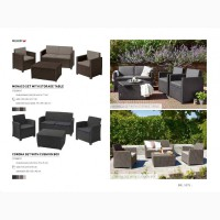 Елітна садові меблі Allibert Нідерлади для саду, кафе і ресторанів