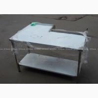 Стол производственный г-образный из нержавеющей стали, стол разделочный из нержавейки