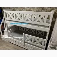 Двухъярусная деревянная кровать Оскар, двоповерхове ліжко