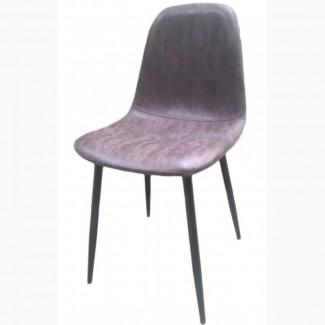 Мягкий стул НУБУК, серый, коричневый