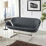 Дизайнерский двухместный диван Лебедь Шерсть (Swan Wool)